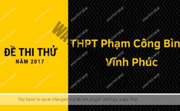 Đề thi thử môn Toán số 25 - THPT Phạm Công Bình, Vĩnh Phúc