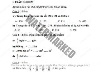 21 đề kiểm tra học kì 2 môn Toán lớp 4