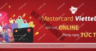 tạo thẻ Mastercard ảo bằng ViettelPay để thanh toán
